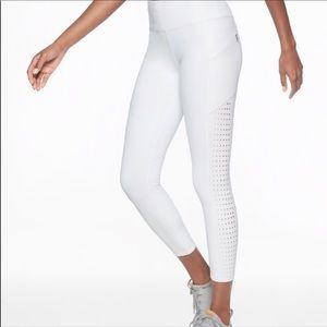 White Contender Laser Cut Running Leggings Athleta